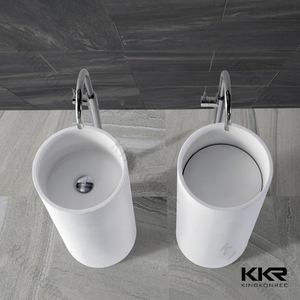 Freestanding Solid Surface Wash Basin KKR-1389